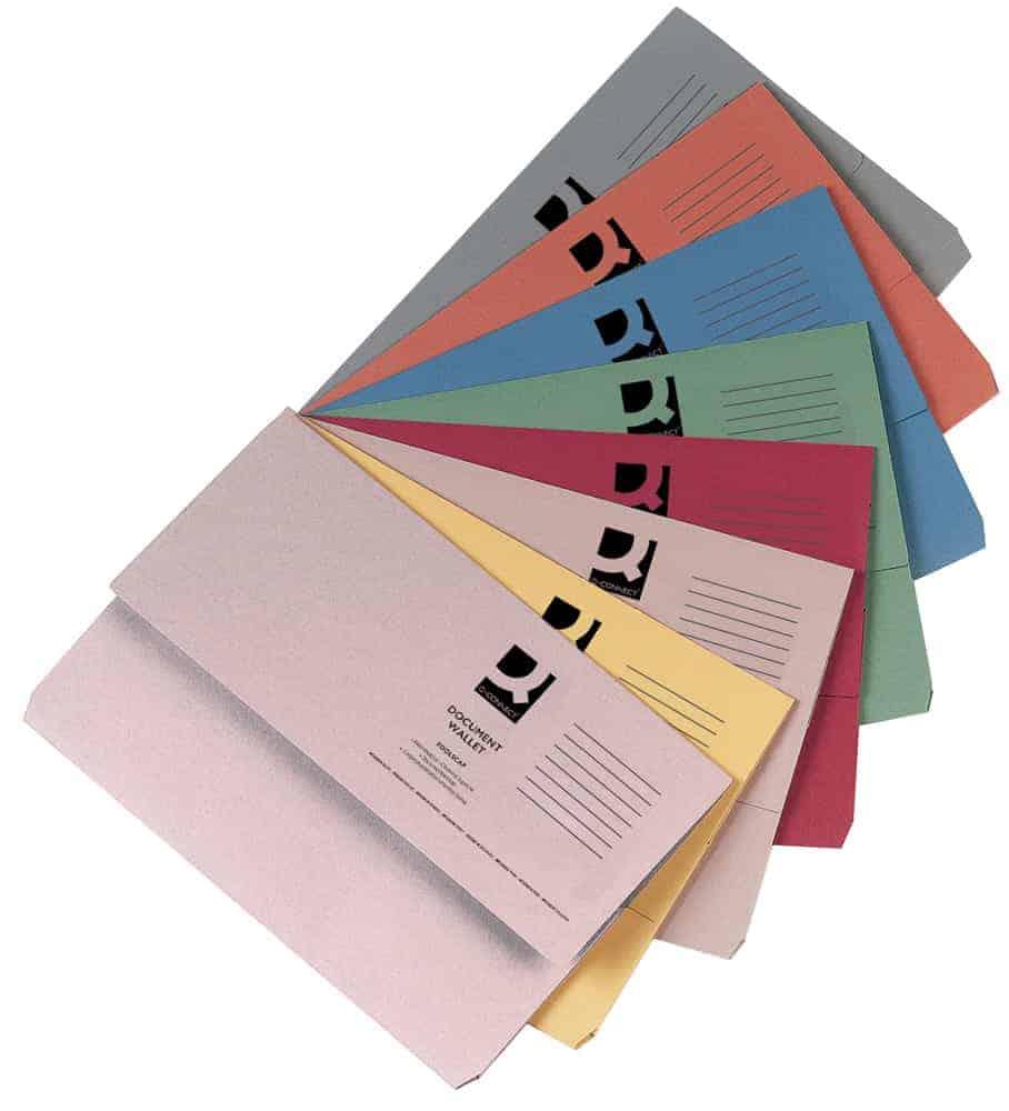 Document Wallets, Punched Pockets & Cut Flush Folders